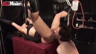 Larissa loves to be tied up and fucked