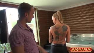 Kayla Green is a tattooed blonde slut