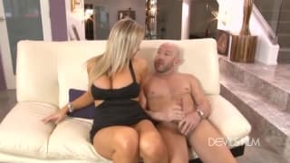 Abbey Brooks enjoys his big hard dick