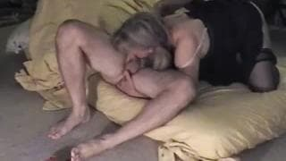 Kinky wife sticks her fingers in his ass