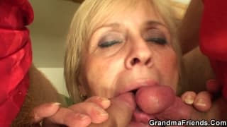 A grandma in a hot young threesome