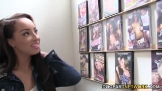 Teanna Trump gets a creampie through the wall
