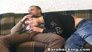 Bareback sodomy for this gay couple