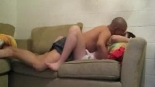 A young couple make a good sextape
