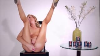 Brett Rossi tests her sex toy on camera