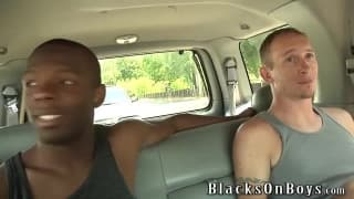 Brian Walker enjoys his first black cock