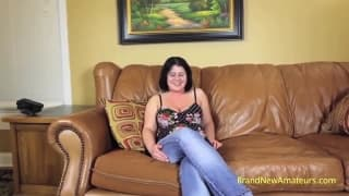 Nicole is a hot brunette milf in a casting