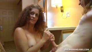 Lisa Browns is masturbating a man
