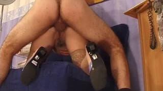 Pregnant slut is fucked making a great scene!