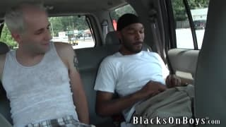 Casey Clay gets a cum facial from a black guy