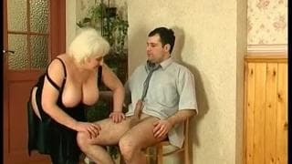 An old granny with a young horny man