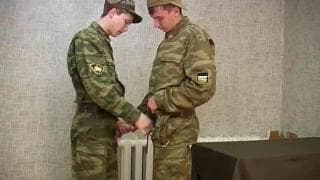 Two gay army boys fuck ass together