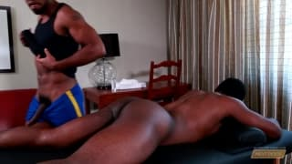 Damian Brooks and his friend enjoy sodomy