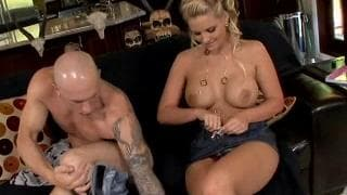 Pheonix Marie gets it hard on the couch