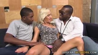 Zoey Portland enjoys an interracial gangbang