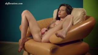 Anna Zhopopez plays with a sex toy
