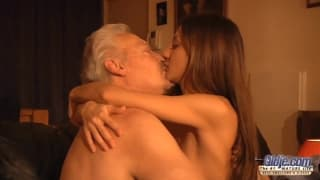 Alice Romain loves to fuck old guys!