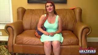 A porn casting with a hot redhead!
