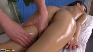 Dominika has a rather special massage!