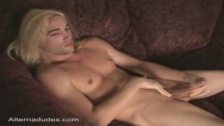 Chris is a twink who loves his own cock