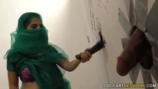 Nadia Ali enjoys this gloryhole session