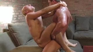 Two gay men sodomizing each other hard