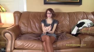 A porn casting with a desperate whore