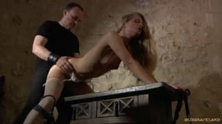 Cayenne Klein enjoys BDSM with her man