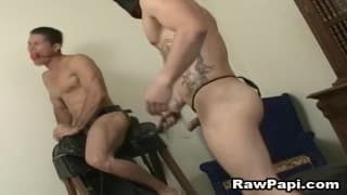A good gay scene with some bareback sex