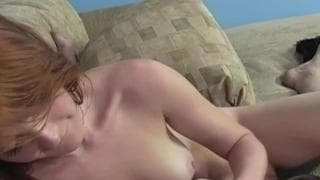 Amber Swift is a redhead who wanks him off