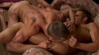 Sam Tyson and Adam Wolfe fuck on the couch