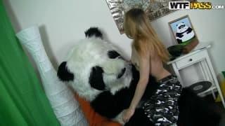 Kris is a blonde who loves pandas!
