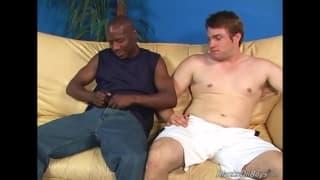 A white guy enjoys sucking this big dick