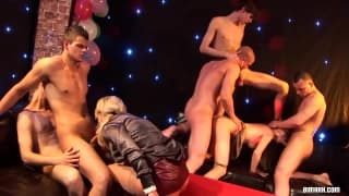 An exciting orgy to enjoy in a club!