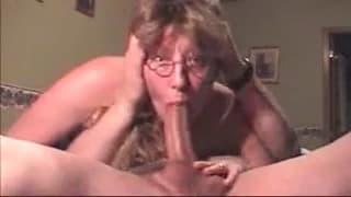 A very good deep throating slut