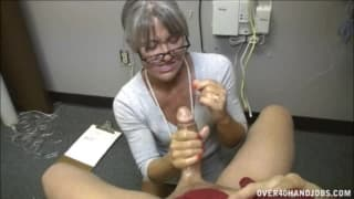 Leilani gives a great handjob in this scene