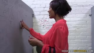 Cherry Hilson in a fantastic gloryhole scene