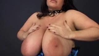 She's a BBW with enormous natural tits!