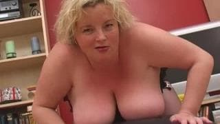 She's a BBW with huge tits who loves cock