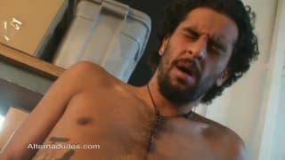 Chato Bear shows us how he masturbates