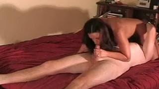 Hot Amateur brunette getting a hard pounding