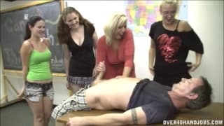 She teaches these sluts how to give a handjob