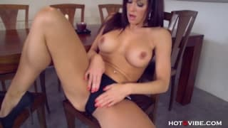 Stacy Silver touches her pussy nonstop!