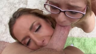 Penny and Sheena enjoy this dick