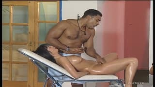 A threesome with a black masseur