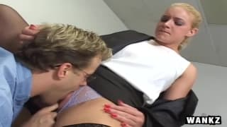 A hot fuck in the office for Heidi Mayne