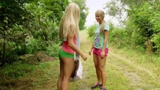 Cayla Lyons has fun with Whitney Conroy!