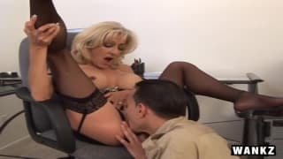 Lexi Carrington is filled with pleasure!