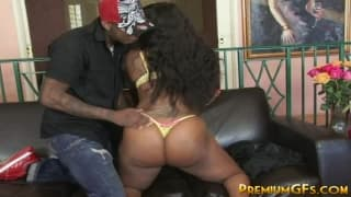 A busty black girl who wants a big dick