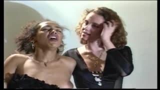 Hot retro interracial threesome and more